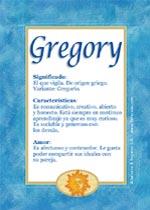 Nombre Gregory