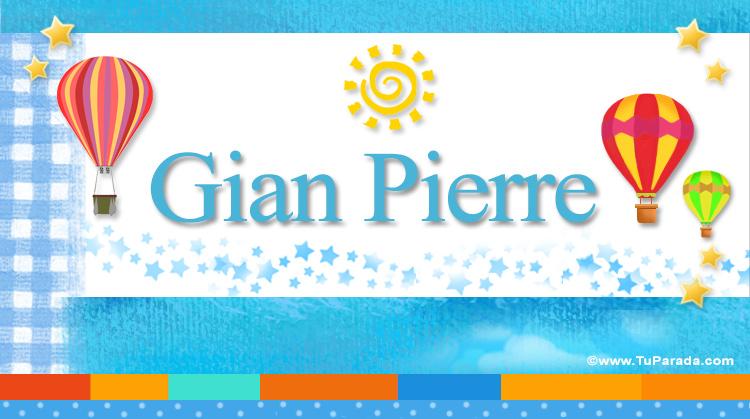 Gian Pierre, imagen de Gian Pierre