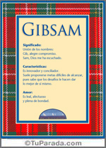 Nombre Gibsam