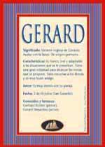 Nombre Gerard