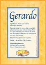 Origen y significado de Gerardo