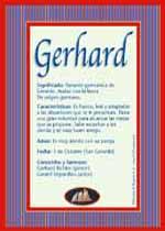 Nombre Gerhard