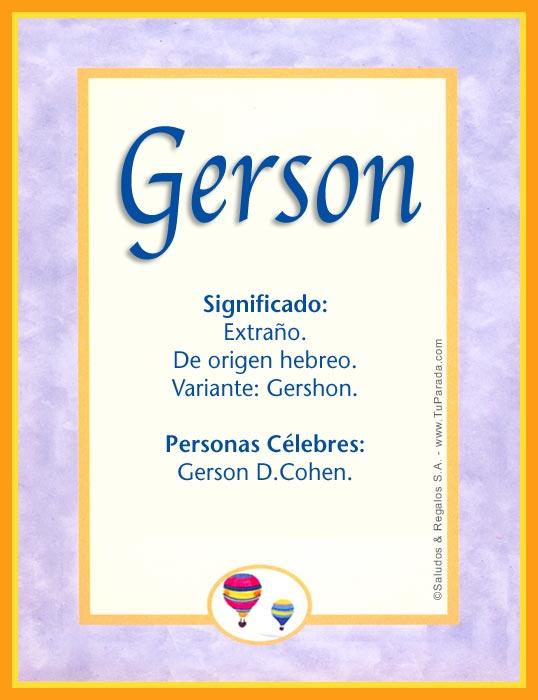 Gerson, imagen de Gerson