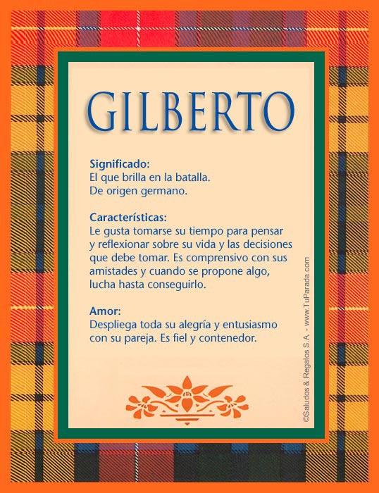 Gilberto, imagen de Gilberto
