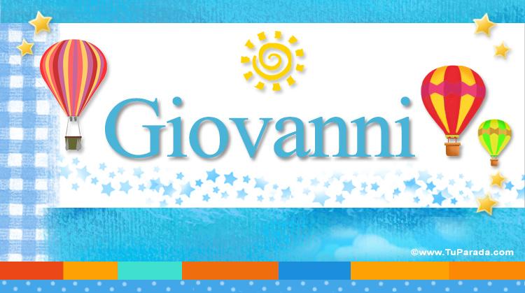 Giovanni, imagen de Giovanni