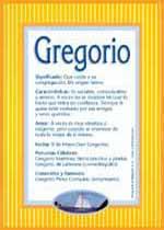 Nombre Gregorio