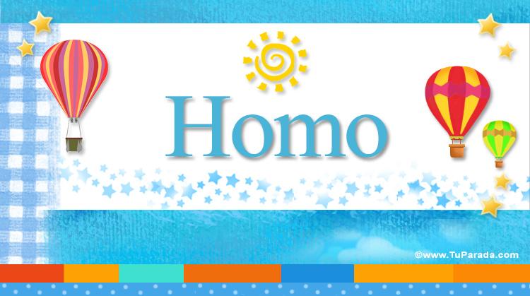 Homo, imagen de Homo
