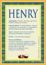 Origen y significado de Henry