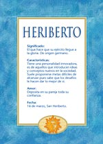 Nombre Heriberto