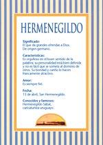 Origen y significado de Hermenegildo
