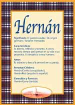 Nombre Hernán