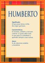 Origen y significado de Humberto