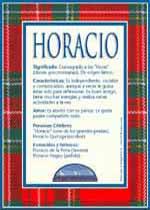 Origen y significado de Horacio