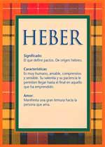 Origen y significado de Heber