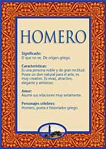 Origen y significado de Homero