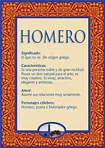 Nombre Homero
