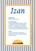 Nombre Izan