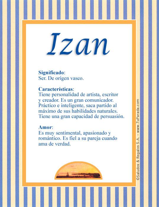 Izan, imagen de Izan