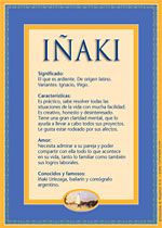 Nombre Iñaki