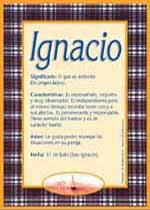 Origen y significado de Ignacio