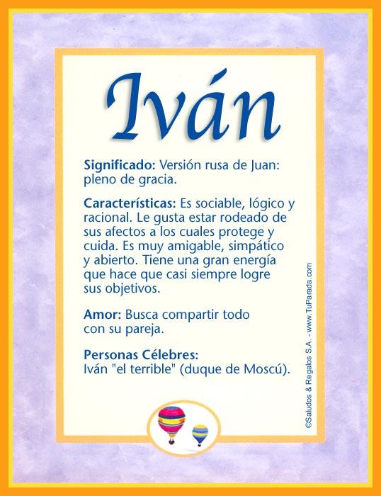 Iván, imagen de Iván