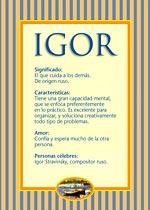 Nombre Igor