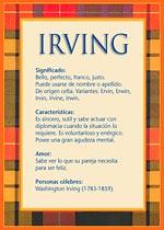 Nombre Irving