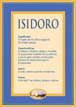 Nombre Isidoro