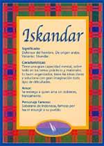 Nombre Iskandar