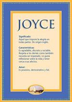 Origen y significado de Joyce