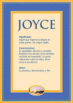 Nombre Joyce