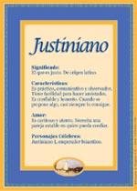 Nombre Justiniano