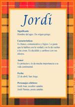 Nombre Jordi