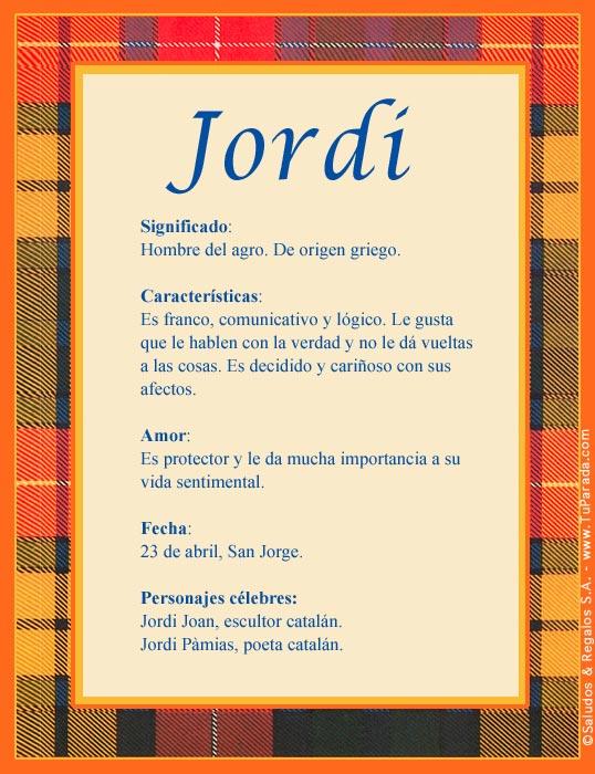Jordi, imagen de Jordi
