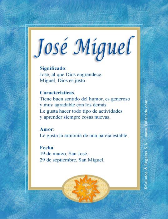 José Miguel, imagen de José Miguel
