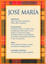 Nombre José María