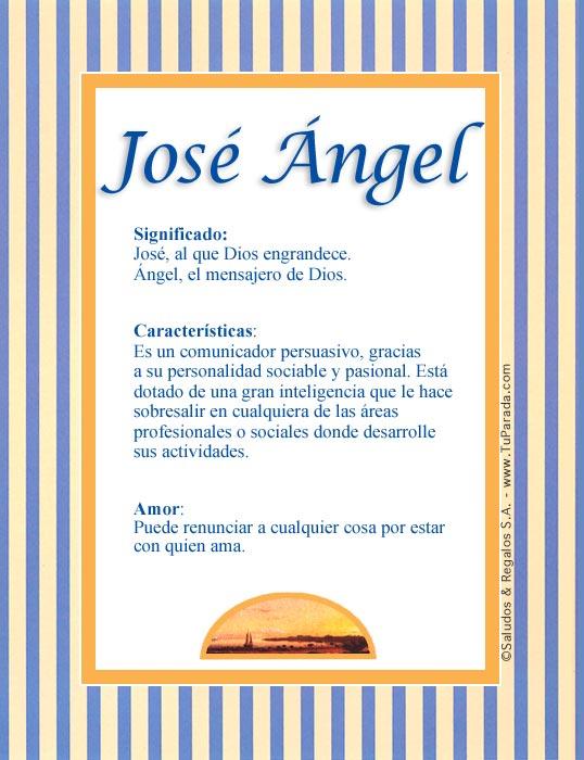 José Ángel, imagen de José Ángel