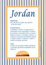 Nombre Jordan