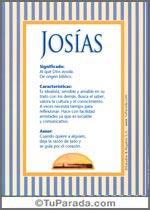Origen y significado de Josías