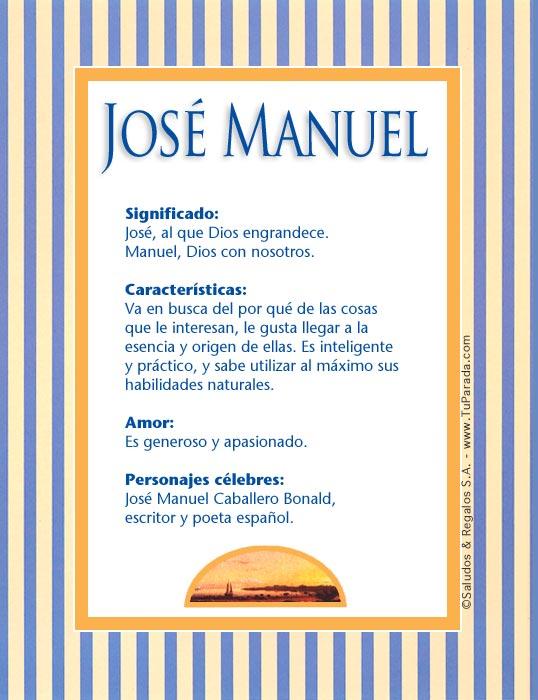 José Manuel, imagen de José Manuel