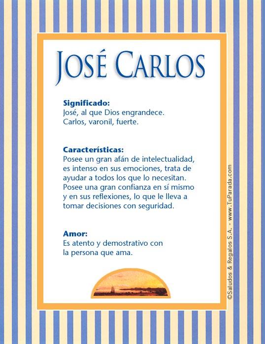 José Carlos, imagen de José Carlos