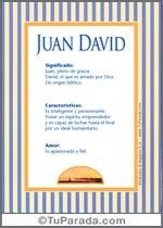 Origen y significado de Juan David