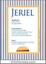 Nombre Jeriel