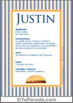 Nombre Justin