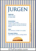 Nombre Jurgen
