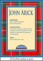 Nombre John Arick