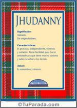 Nombre Jhudanny