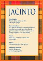 Origen y significado de Jacinto