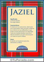 Nombre Jaziel