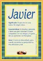 Nombre Javier